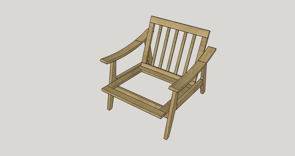 plan fauteuil danois style scandinave