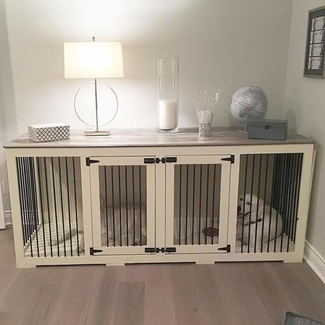 j ai fabriquer ce meuble enclos pour chien sur mesure pour des amis de fabrication toute simple en m d f assemble par biscuits et vis