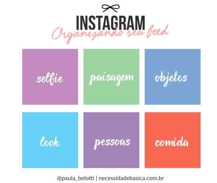 organização do feed instagram