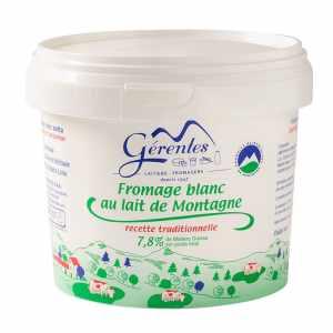 fromage blanc au lait de montagne laiterie gerentes