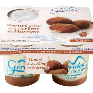 yaourt crème de marron laiterie gerentes