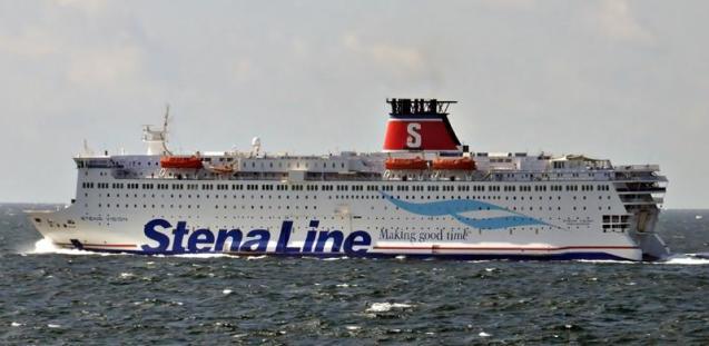 STENA VISION. Rakennettu 1987, Puola. 175x30m. Nopeus 20 solmua. Stena Line. Lippu: Ruotsi.
