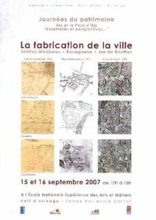 LA FABRICATION DE LA VILLE