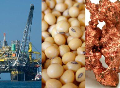 Resultado de imagen para cobre, petróleo y la soya
