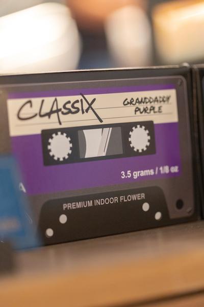 Marijuana in a cassette tape shaped box