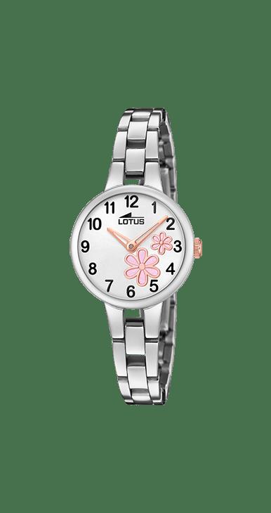 Reloj lotus niña de comunión con flor estampada en la esfera