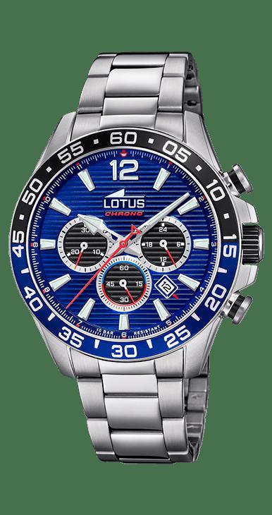 Reloj Lotus Chrono fondo azul y negro