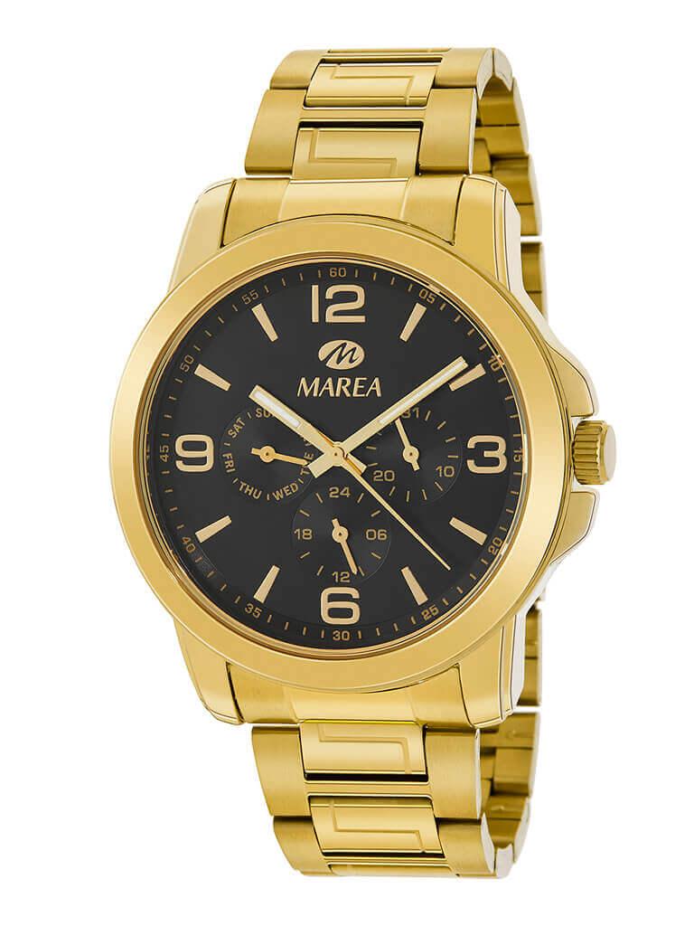 reloj hombre marea dorado