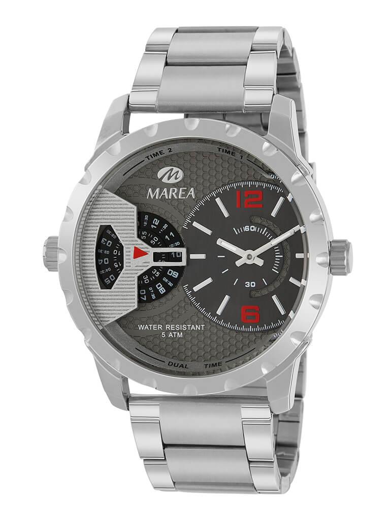 Reloj hombre marea cadena acero y esfera gris