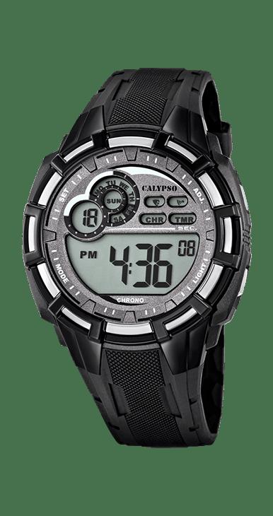 Reloj calypso digital , resistente al agua 100 metro con alarma y luz