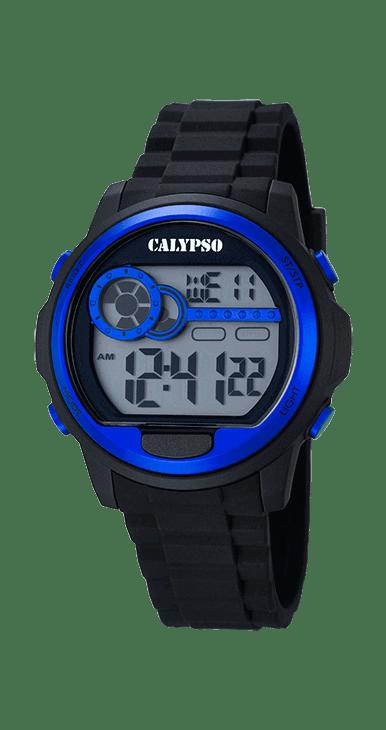 Reloj hombre calypso K5667/3 digital deportivo, ideal para que te acompañe en el día a día. Resistente al agua hasta 100 metros incorpora: alarma, cronografo, hora dual y luz. Un todo terreno que viene de la mano del grupo LOTUS-FESTINA.