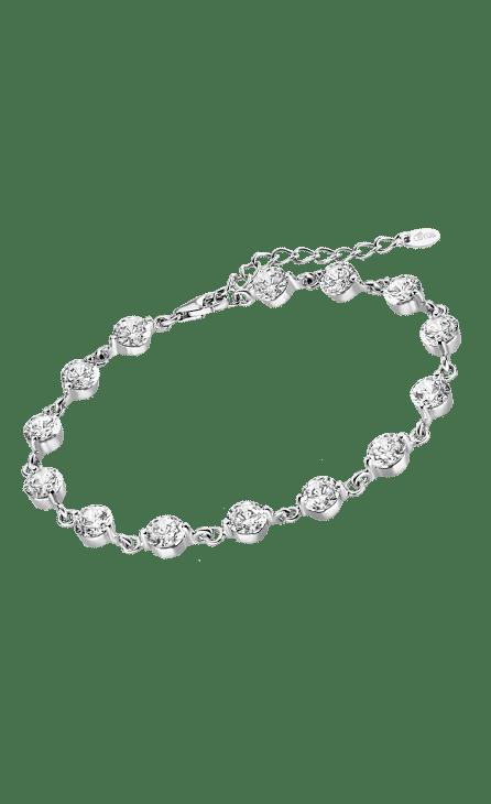 Pulsera mujer plata Lotus Silver con circonitas blancas de 5 mm