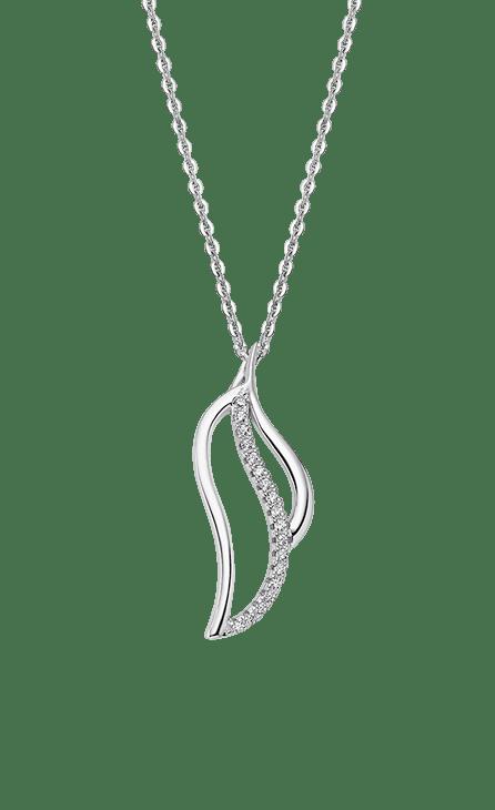 Collar plata mujer LP1912-1/1 Lotus Silver con cadena de 45 cm. Colgante con forma de hoja en movimiento. Collar para un público actual , dinamico y acorde con las nuevas tendencias del look urbano.