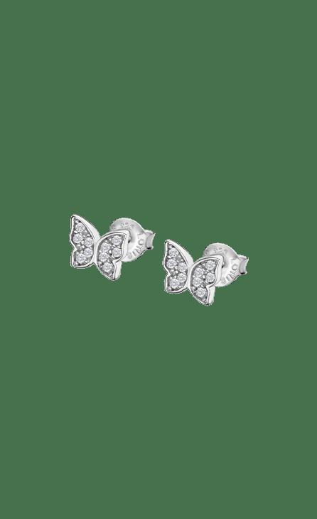 Pendientes Mariposa Lotus Silver Lp3051-4/1 Pendientes Mariposa Lotus Silver Lp3051-4/1 con cierre de presión y cuajados de circonitas. Pequeño pendiente ideal para todas aquellas que gustan de complementos minimalistas. Frescura en sus diseños, dinamismo en las formas. Elegancia moderna, joven y contemporánea. Adéntrate en esta fantástica colección llena de magia a unos precios de escandalo. Todos los artículos se entregarán con su caja y garantia oficial. Pendientes fabricados en plata de 925 mm.