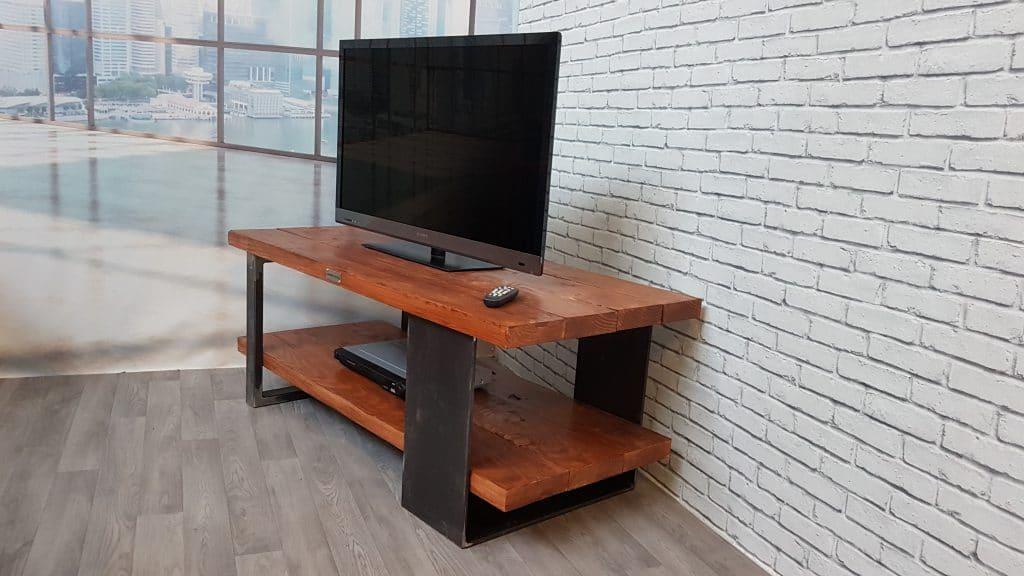 meuble tv bois metal au style