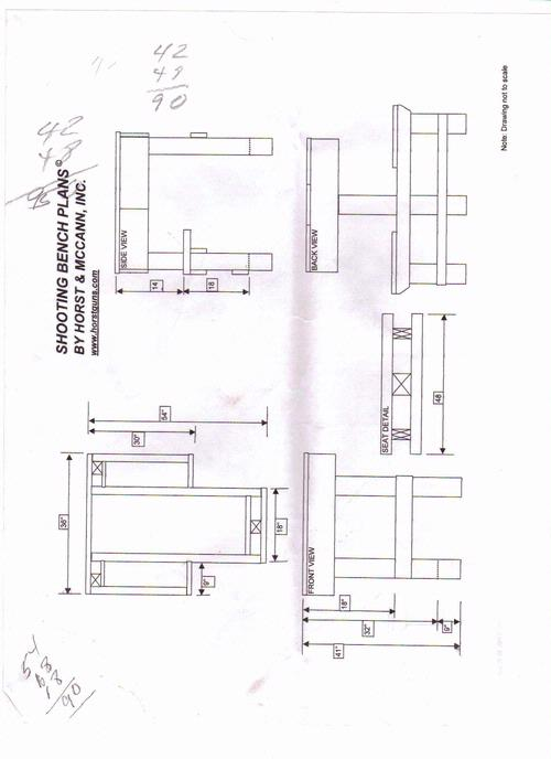 Shooting Bench Blueprints