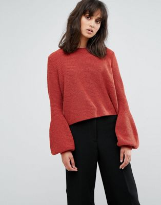 Red Cropped sweater for thanksgiving dinner