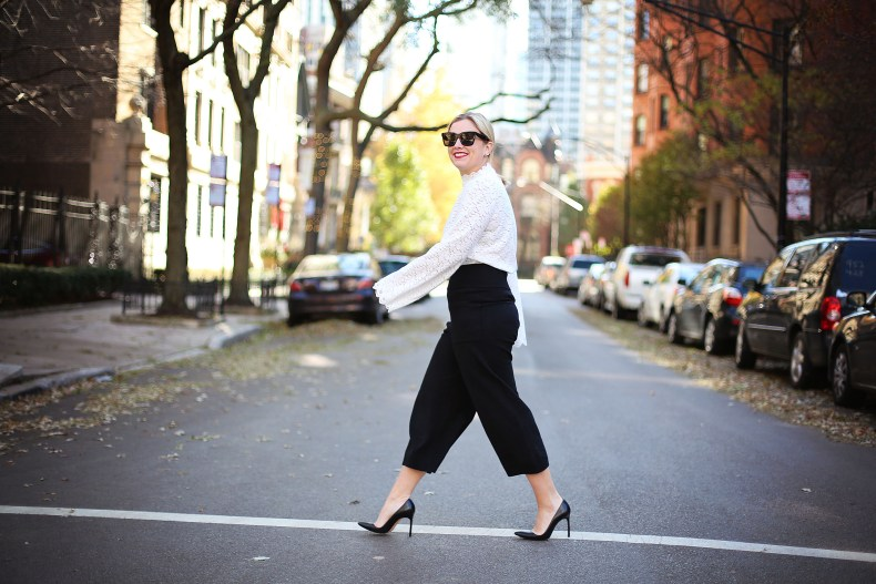 Black and white holiday outfit inspo