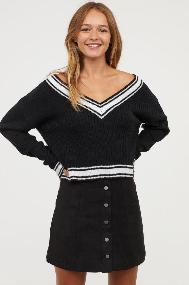 varsity sweater trend