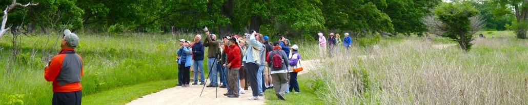 Lake Cook Audubon bird watching field trip at Rollins Savanna Forest Preserve