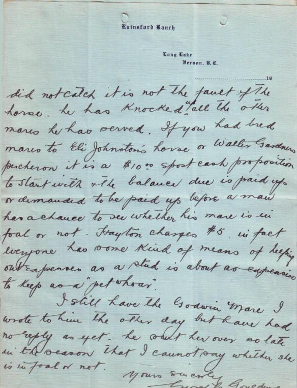 Letter from George C. Goulding, p2
