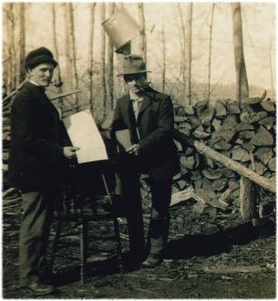 Jim Gleed and Teddy Hare