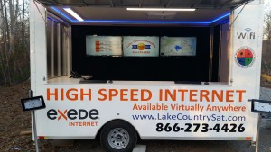 Lake Country Satellites new demo trailer, mobile office, and emergency communications response unit.