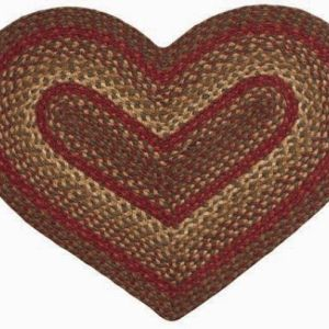 Heart Shaped Braided Rugs
