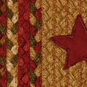 Cinnamon Star Braided Rugs by IHF