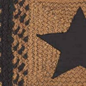 Country Star Black Braided Rugs by IHF