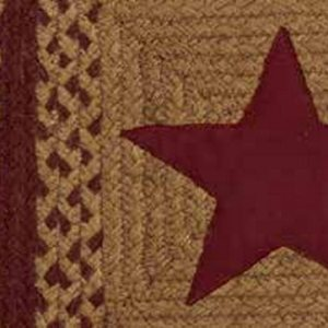 Country Star Wine Braided Rugs by IHF