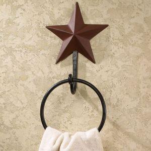 Barn Star Burgundy Bath Accessories