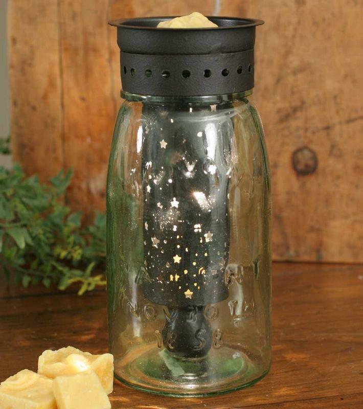 Quart Mason Jar Wax Warmer With Starry Sky Pattern Lake Erie Gifts Decor