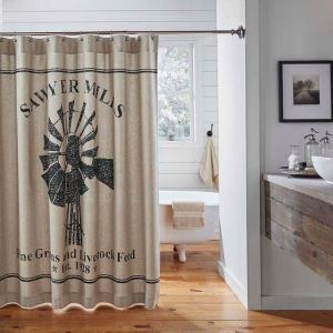 Sawyer Mill Shower Curtain by VHC Brands