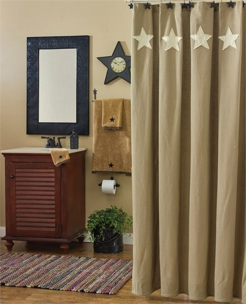 Taupe & Star Shower Curtain By Park Designs