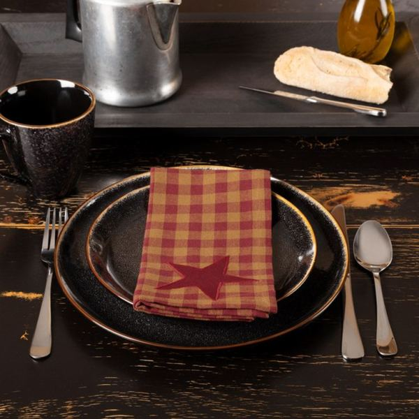 Burgundy Star Napkin