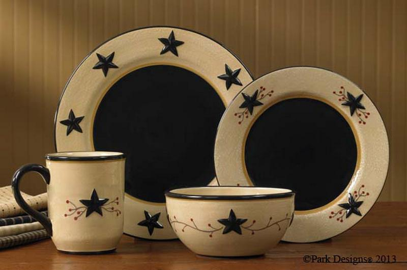 ordinary Park Design Canister Set Part - 17: Star Vine Dinnerware by Park Designs