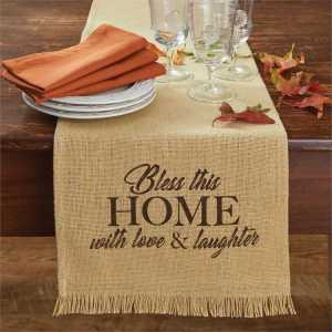 Bless this Home Table Runner