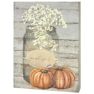 Grateful Mason Jar Box Sign
