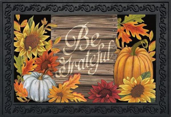 Be Grateful Indoor/Outdoor Doormat