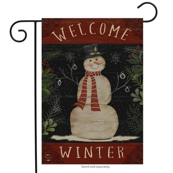 Welcome Winter Snowman Flag
