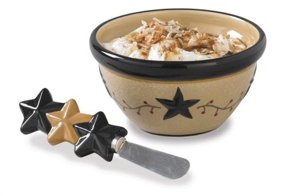 Star Vine Dip Bowl With Spreader by Park Designs