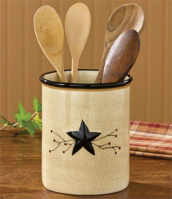 Star Vine Utensil Crock by Park Designs