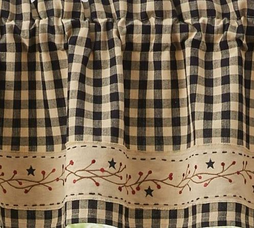 Berry Gingham Curtain Collection by Park Designs