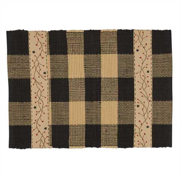 Berry Gingham Rag Rug by Park Designs