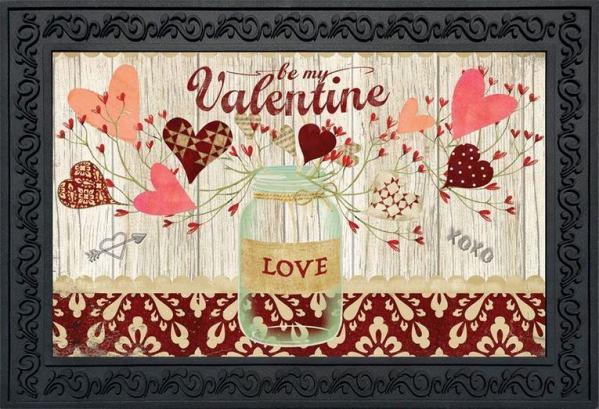 Lovely Hearts Indoor Outdoor Doormat