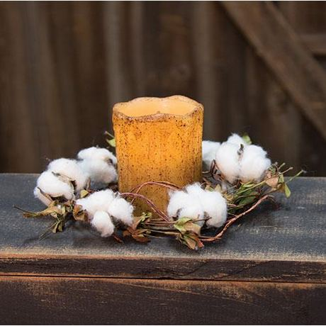 Wild Cotton Candle Ring