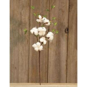 Cotton & Willow Leaves Spray, 24""