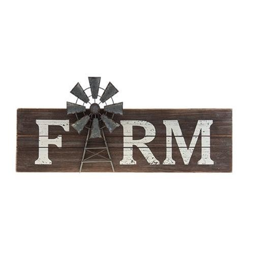 Farm Windmill Sign