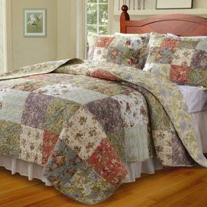Blooming Prairie Floral Full/Queen Quilt Set